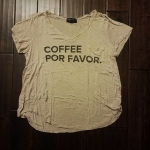 XXI Coffee Plus Size Tshirt